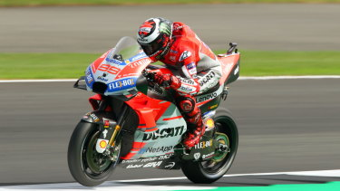 Pole: Ducati's Jorge Lorenzo leads the way for the British Grand Prix.