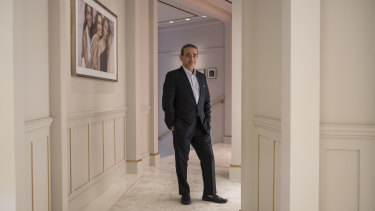 Jewellery designer Nirav Modi at his boutique in Hong Kong in 2017.