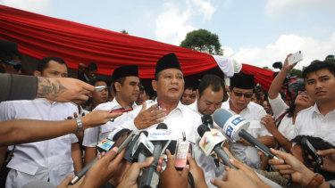 Prabowo Subianto in Bogor, West Java.