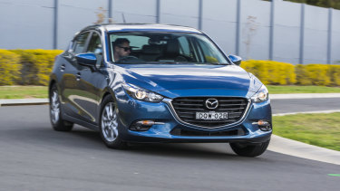 Popular: The Mazda3 was the best-selling car in Canberra last year.