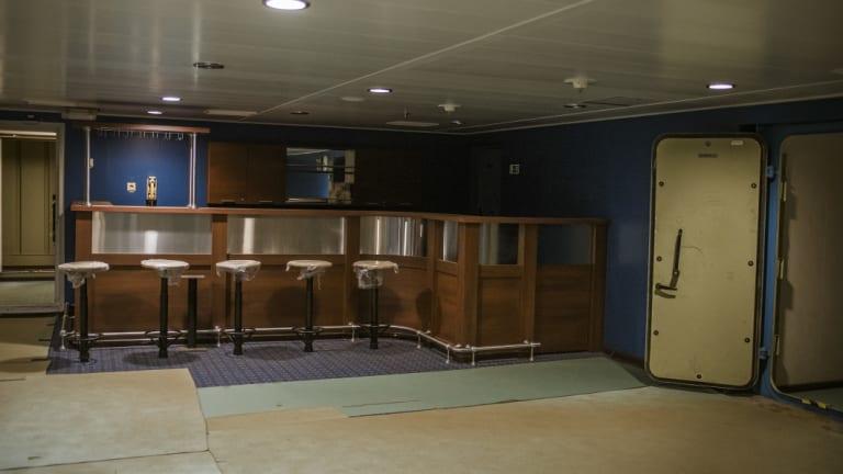 A bar aboard the Akademik Lomonosov.