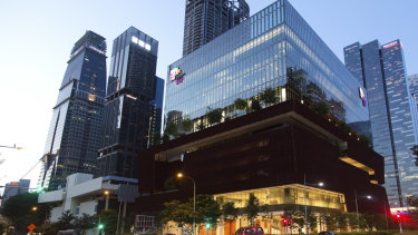 The $148 million, 11-storey Singapore Chinese Cultural Centre.