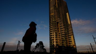 The Opal Tower building in Sydney Olympic Park, one of three evacuated because of defects.