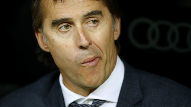 """I feel absolutely supported, I'm calm and focused on my work"": Julen Lopetegui."