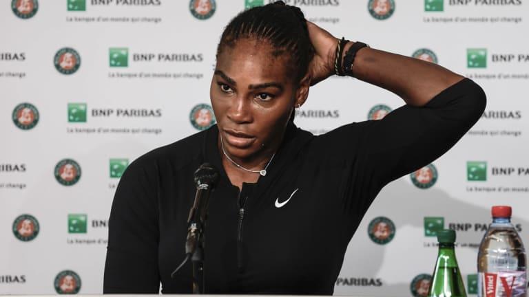 Unimpressed: Serena Williams.