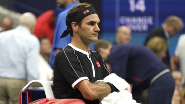 Roger Federer won't be losing too much sleep over the race for the grand slam record.