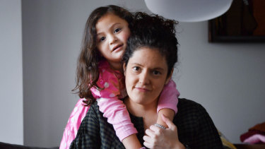 Shella Shpigel, pictured with daughter Paloma, is concerned about a proposal to hand over council-run child care centres to not-for-profit providers in the City of Port Phillip.