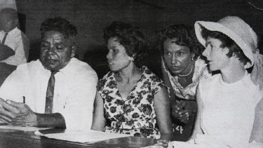 Members of the Aboriginal and Torres Strait Islander Advancement League days before the 1967 referendum - Ruth second from right.