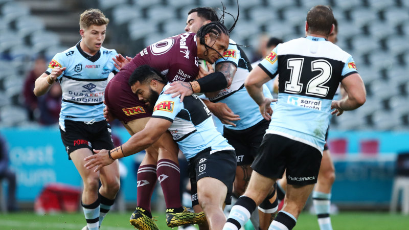 No Trbojevic, no Manly as Sharks thump undermanned Sea Eagles