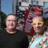 Activist Alan West and former mayor Dick Gross are distressed that The Greyhound Hotel could not be saved.