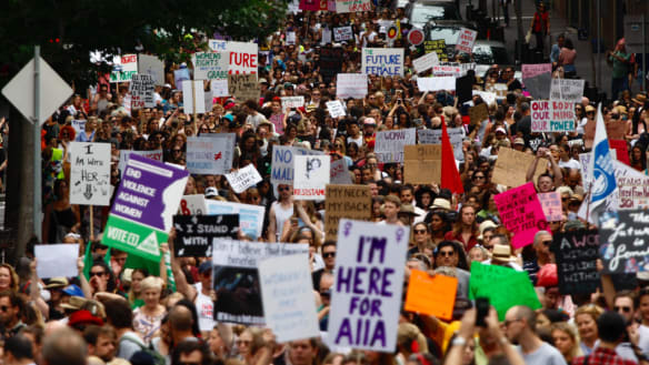 Thousands rally for Sydney Women's March