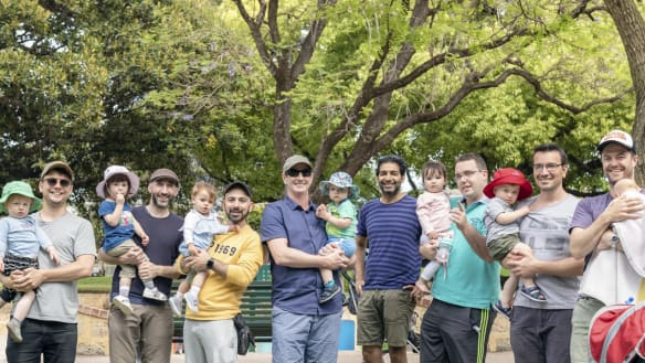 Caring for babies is a walk in the park for these Perth dads