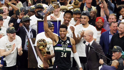Bucks end 50-year wait for NBA title after 50 from Giannis