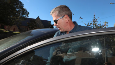 Matthew Hanks after leaving Wollongong police station on Wednesday.