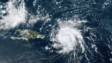 Hurricane Dorian is rapidly gathering speed as it approaches the US mainland.