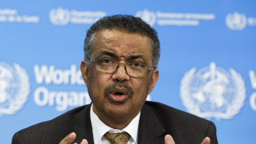 Fundraising: Tedros Adhanom Ghebreyesus, Director General of the World Health Organisation.