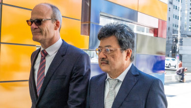 TPG CEO David Teoh (right) and general counsel Tony Moffat.