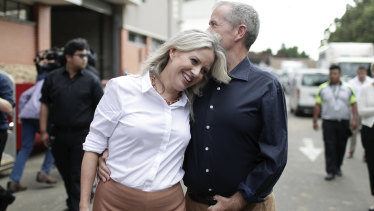 Opposition Leader Bill Shorten and Chloe Shorten during their visit to the Royal Easter Show in Sydney, on Saturday 13 April 2019.