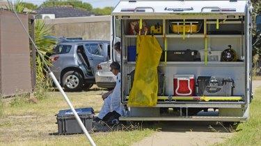 Forensics police examined Mr Avan's home in Shepparton on Thursday morning.