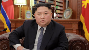North Korean leader Kim Jong-un delivers his New Year's speech.