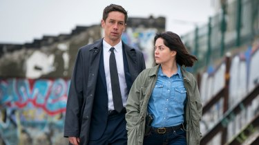 Killian Scott and Sarah Greene in Dublin Murders.