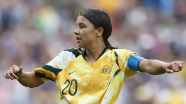 Matildas captain Sam Kerr is weighing up offers from Chelsea and Lyon.
