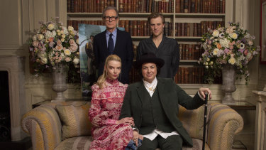 Clockwise from front left: Anya Taylor-Joy, Bill Nighy and Johnny Flynn star in Emma, directed by Autumn De Wilde, front right.