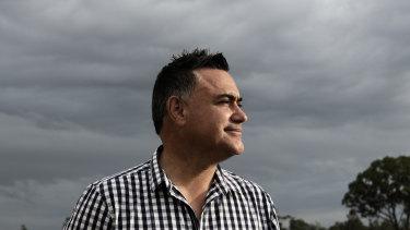 NSW Deputy Premier John Barilaro campaigning during last year's state election.