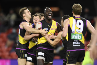 Richmond's Mabior Chol has moved to Gold Coast as a free agent.