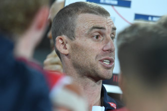 Melbourne's Simon Goodwin is one of many coaches working reduced hours.