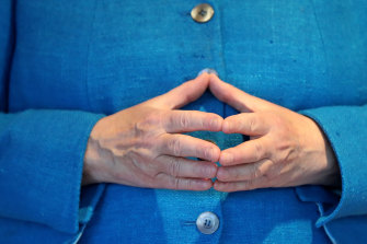 Merkel's signature hand gesture is a symbol of her time in power.