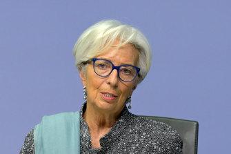 ECB boss Christine Lagarde.