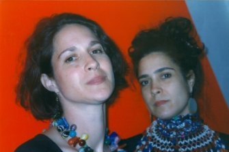 Twins Margaret, left, and Christine Wertheim bring their divergent passions together in Crochet Coral Reef.