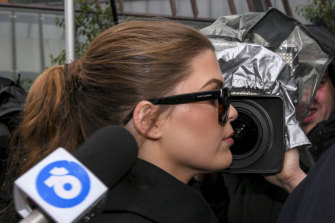 Belle Gibson arrives at court on Thursday