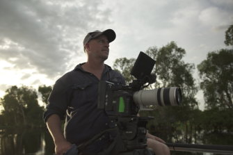 Nick Robinson, director of Australia: The Wild Top End, on location.