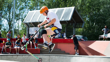 James Burton, 13, was competing for the first time on Saturday.