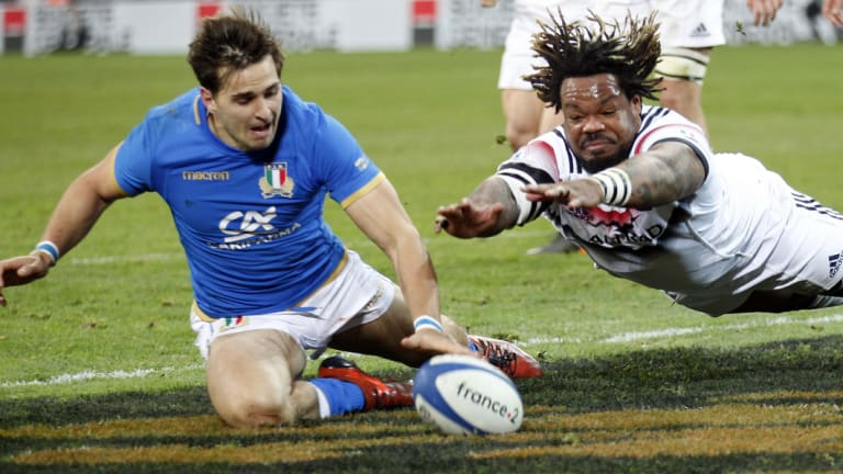 Blow: Brilliant young fullback Matteo Minozzi will not feature for Italy.