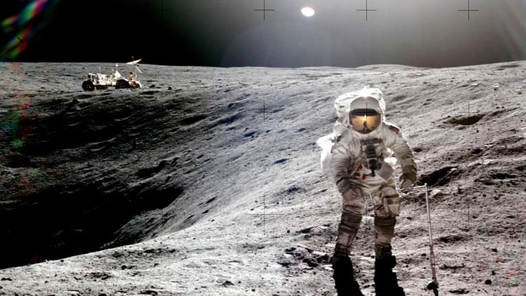 Astronaut Charlie Duke was the 10th and youngest man on the moon.