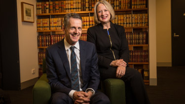 County Court judges Meryl Sexton and Trevor Wraight.