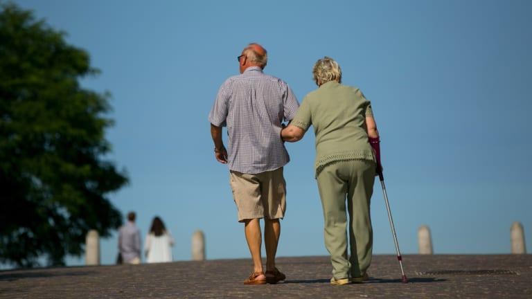 Pensioners on Ruegen Island, Germany.