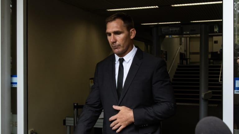 Guilty plea: Scott Bolton leaves court.