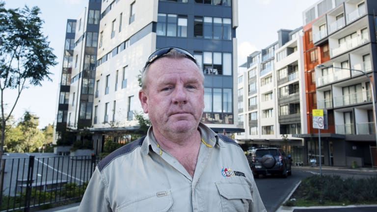 'Gladesville does need a bit of uplift': plumber Paul Borton, who lives in a new apartment block after downsizing from Balmain.