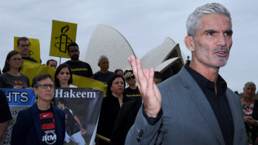 Craig Foster (right) has been tireless in his bid to have Hakeem al-Araibi returned to Australia.