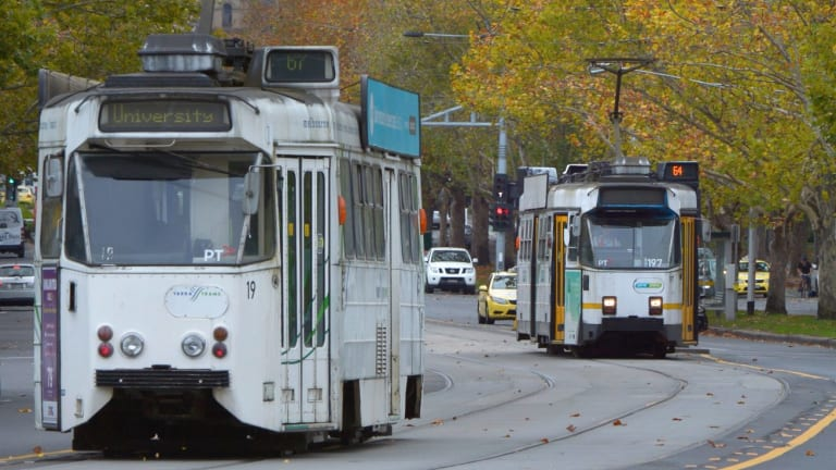 Trams won't run down St Kilda Road over Easter.