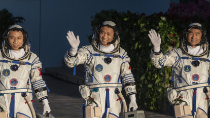 Chinese astronauts blast off on mission to ISS rival