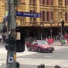 Gargasoulas driving in front of  Flinders Street Station shortly before the Bourke Street massacre.