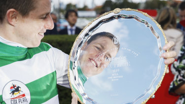 Damian Lane with his Cox Plate.