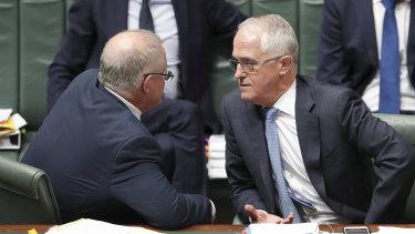 Treasurer Scott Morrison and Prime Minister Malcolm Turnbull
