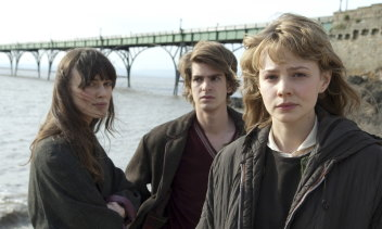 From left, Keira Knightly, Andrew Garfield and Carey Mulligan in Never Let Me Go.