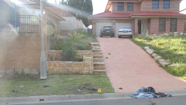 A police photograph of the Rouse Hill home where Ms Kaur was found burned.